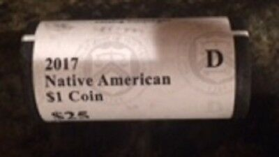 2017 D Mint Native American Sacagawea B/U 25 Per Roll
