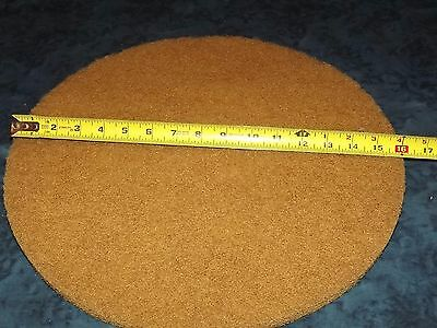 Lot of 6 - 16 inch Industrial Floor Pads - Brown