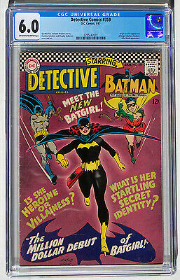 Detective Comics Batman #359 CGC (not CBCS) Fine 6.0 1st Batgirl Off-White to WH