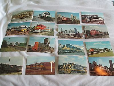 Vintage Lot of 16 Diesel Railroad Post Cards NOS from collector 50s-70s