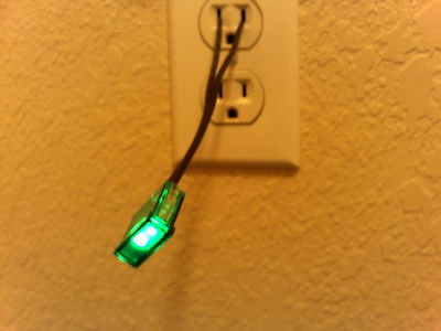 LOT OF 50 - Green Neon Panel Indicator Lamp with Phosphor-Coated NE-2 Style Bulb