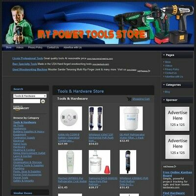 POWER TOOLS & HARDWARE STORE - Turnkey Website - Your Business Runs on Autopilot