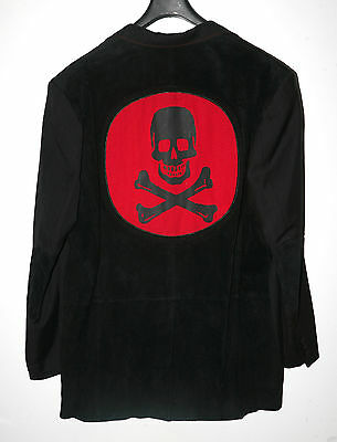 Mens Skull Design Jacket.wilson Leather M Julian.suede & Wool Blend  Sz Xxl