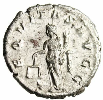 """Philip I Silver Antoninianus """"Aequitas With Scales"""" About EF RIC 27b Authentic"""