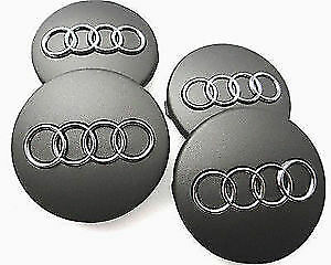 New 4pcs. Audi A4 A6 S4 S6 A8 S8 Q7 Wheel Center Hub Cap 68mm 8D0601170 GREY