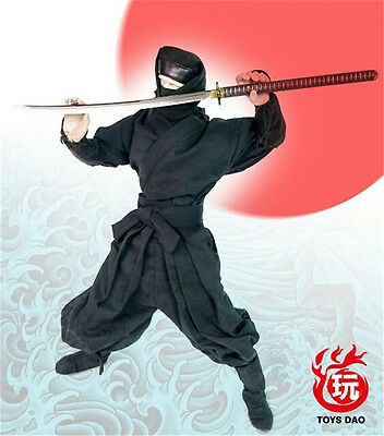 HOT FIGURE TOYS 1/6 toys dao Ninja suit Black and red camouflage tricolor