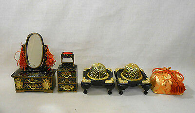 701 Japanese Dressing Table KYODAI & Workbox & Brazier / Ornament for HINA Doll