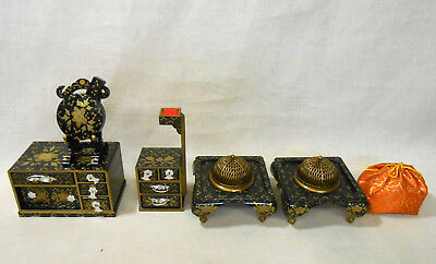 707 Japanese Dressing Table KYODAI & Workbox & Brazier / Ornament for HINA Doll