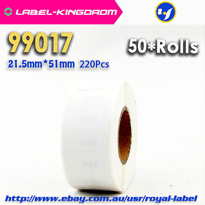 50 Rolls Dymo 99017 Labels Sticker Compatible for Lw450 Turbo 21.5X51mm 220Pcs