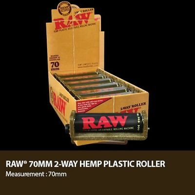 Raw black rolling papers, black roller and regular filter tips