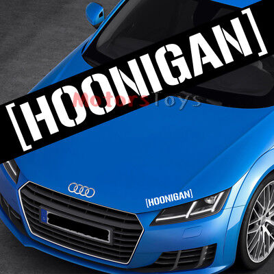 1x White Color JDM Hoonigan Letter HF Decorate Vinyl Moto Auto Car Sticker Decal