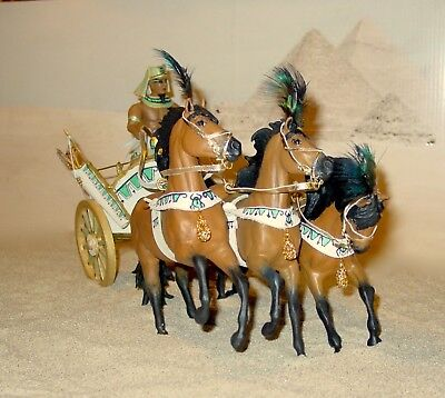 Custom Breyer Horse  OOAK Chariot- Egyptian