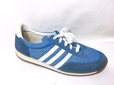 Vintage 80's Trax Mens Running Athletic Sneakers Shoes Shoes Size 7.5 blue white