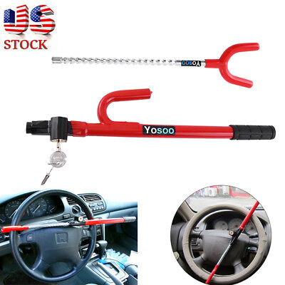 New Universal Auto Car Anti-Theft Security System Steering Wheel Lock SUV Truck