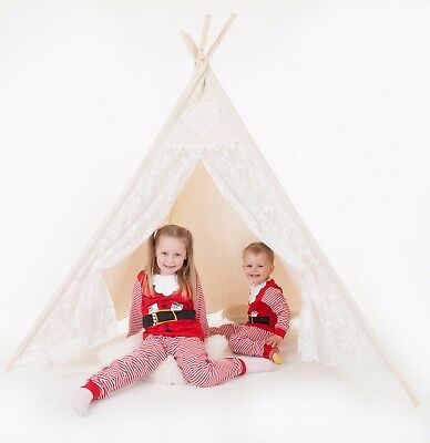 Children's Lace Kids Teepee. Girls Princess Play Tent, Playhouse, wigwam Tipi