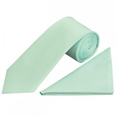 Mint Diamond Classic Mens Tie and Handkerchief Set Regular Tie and Pocket Square