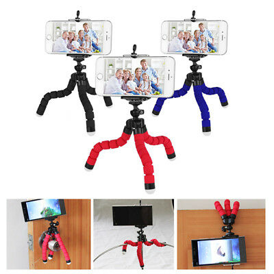 Octopus Tripod Stand HandleBar Mount Grip with U Clip for Camera iPhone 6s 7 8 X