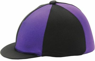 Hy Two Tone Lycra Silks Riding Hat Equestrian Cap Cover for Horse & Pony