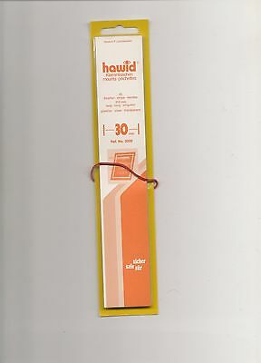 HAWID MOUNTS 30 mm strips clear pack of 25