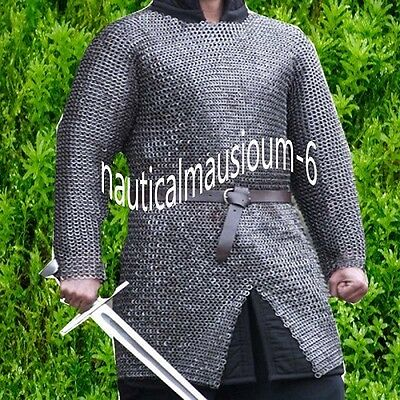 Flat Rivet With Flat Washer Chainmail Large Size Half Sleeve Huberg Oiled
