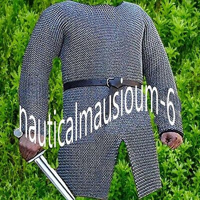 Chainmail Shirt Flat Rivet With Flat Washer Zinc XL Size Full Sleeve Hubergion