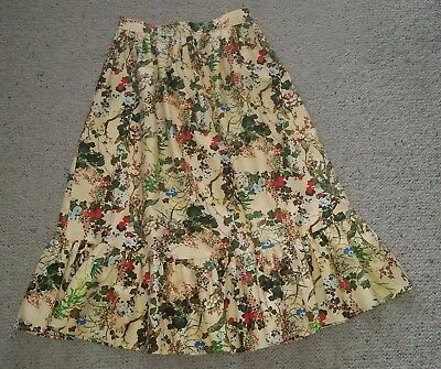 2 piece vintage floral skirt and top 10 - 12 fun festival wear great condition