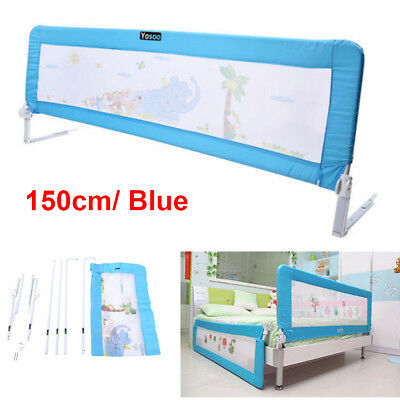 150cm Universal Folding Child Toddler Bed Rail Safety Bedguard Protection Blue