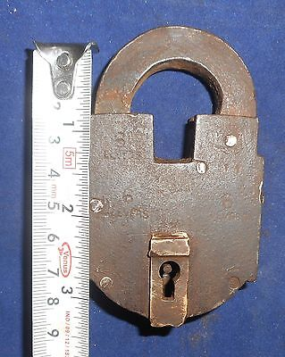 India Antique Iron handmade Padlock with handmade Key working condition Bt78