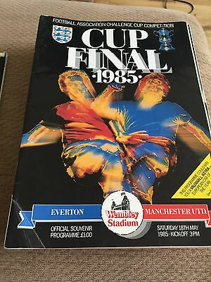 1985 FA Cup Final, Everton V Manchester United