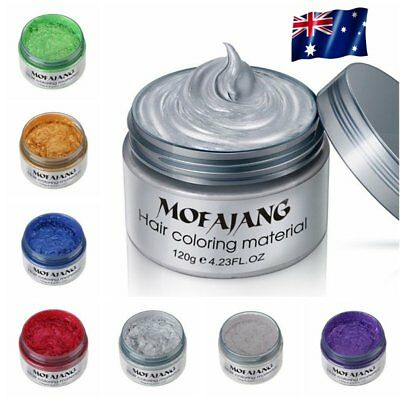 One-time Molding Paste Hair Style Styling Hair Color Cream Wax Dye Wax Harajuku~