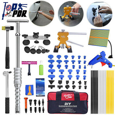 87x PDR Paintless Dent Repair Dent Puller Lifter T-Bar Hail Hammer Removal Tools