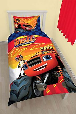 Brand New Cartoon Character Blaze And The Monster Machines Reversible Single Set