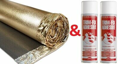 Campervan Underfloor Insulation Premium Gold (6m x 1m Roll)