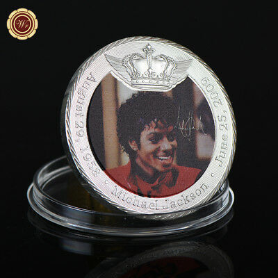 WR Young Michael Jackson Pure Silver Plated Crown Coin MJ Music Memorabilia