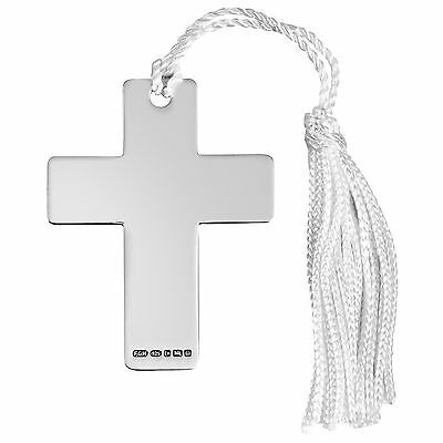 Hallmarked Sterling Silver Cross Bookmark + Free Gift Case 9374