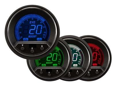 Prosport Evo 52mm LCD 35 PSI Boost Gauge 4 colour with peak and warning