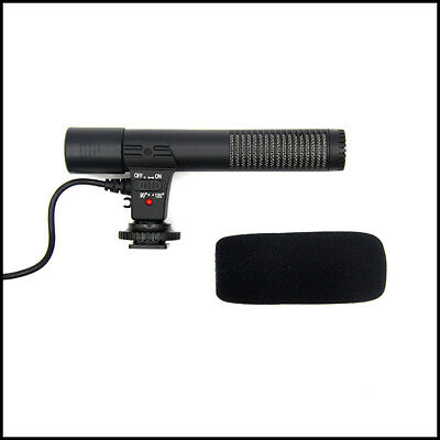 X KINETIC Shotgun Microphone (3.5mm) For Canon Nikon Sony Pentax DV Devices DSLR