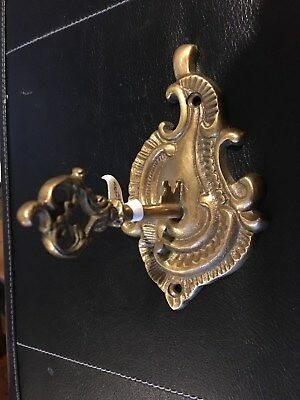 New Anthropologie Solid Brass Victorian Key Hook for Kitchen Bedroom or Bath