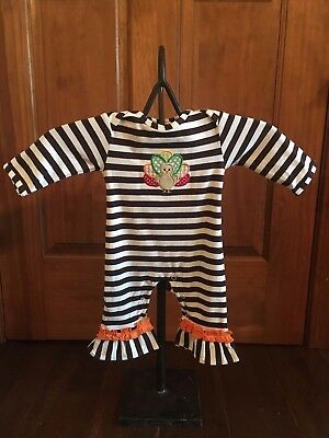 Thanksgiving Turkey Knit Romper Infant girls fall one piece