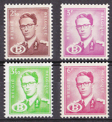 Belgium - Railway Official Stamps King Baudouin 1954 MH O1526 O1527 O1528 O1530
