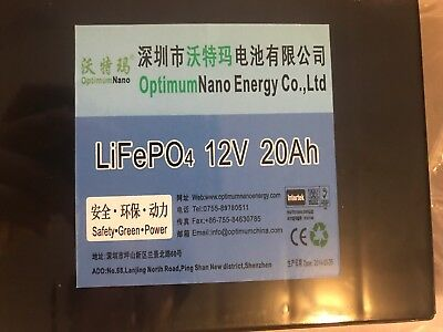 Batterie Lithium LiFePO4 12V 20A optimumnano
