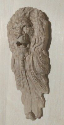 Decorative Carved  Wooden Lion head Corbels oak wood one pair (2pcs)