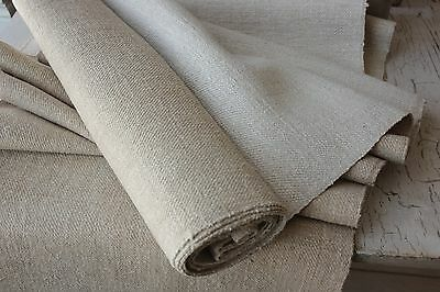 Vintage natural organic WASHED  fabric grain sack material  TWILL 7.5YDS by 21.