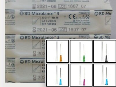 100 / 200 BUNDLE of BD Hypodermic Needles CE Marked Private+Discreet Range + Mix