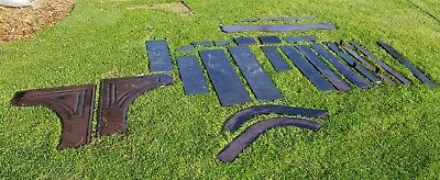 Antique Victorian Slate Stone Fireplace Hearth Mantel Repurpose Garden Decor