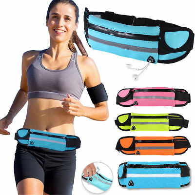 Waterproof Sport Runner Waist Bum Bag Running Jogging Belt Pouch unisex bag