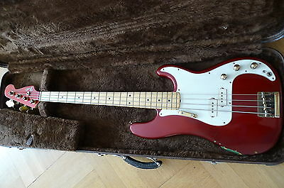 Fender Precision Special Bj. 1980 Candy Apple Red Maple Neck schöner Zustand