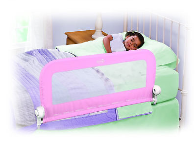 Single Safety Bed Rail Guard For Baby Infant Cot Side Barrier 90x51cm Pink New