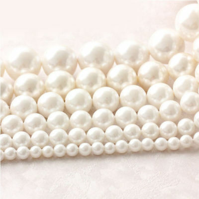 1 Strand Freshwater Natural Pearl Round Loose Beads DIY 14'' 4/5/6/7/8/9/10mm