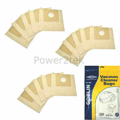 15 x Type 00 Vacuum Cleaner Bags for Goblin Topo 73154 Hoover UK